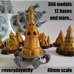 Download 3D printer templates Everyday a City (40mms), ferjerez3d