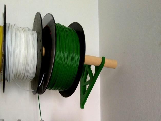 2fbf68a1b325e78f3b8c27e87cef745b_preview_featured.jpg Télécharger fichier STL gratuit Filament Spool Wall Mount + Hub • Plan imprimable en 3D, ferjerez3d
