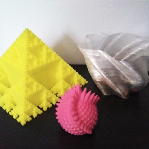 Download free STL file OpenSCAD in a Tweet (3 in 1) • 3D printer design, ferjerez3d