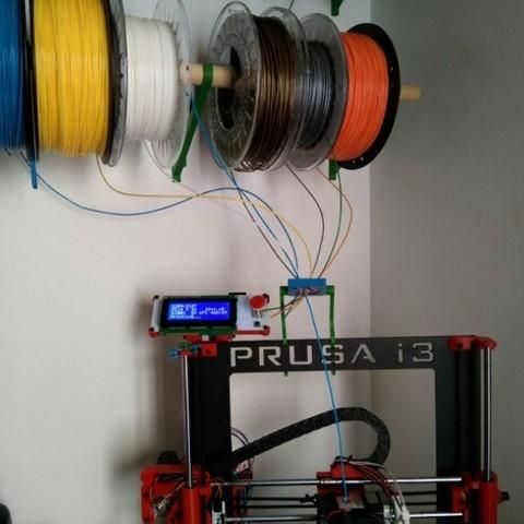 491cbe27353824f312fae66be17dd92d_preview_featured.jpg Télécharger fichier STL gratuit Filament Spool Wall Mount + Hub • Plan imprimable en 3D, ferjerez3d