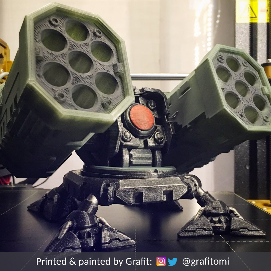 credits2.jpg Download STL file SAM Rocket Launcher Penholder • Model to 3D print, ferjerez3d