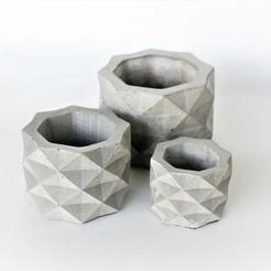 Impresiones 3D gratis Molde geométrico de hormigón, esparapse