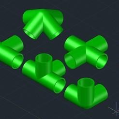 Sans titre.jpg Télécharger fichier STL Raccord pour tube Ø20mm • Plan à imprimer en 3D, Kermit