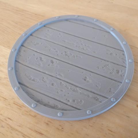 Download free 3D model Viking Shield Coaster, SenseiRalph