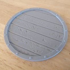 Free 3D printer model Viking Shield Coaster, SenseiRalph