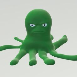 Free 3D print files Cranky the Octopus, itech3dp