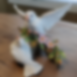 Download free 3D printer model Two Birds on a Branch, itech3dp