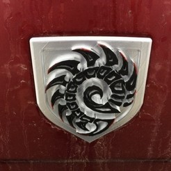 3ee9cd9fd6121954cbbd5c3ecfd879f0_preview_featured.jpg Download free STL file Zerg Tailgate Emblem for Dodge Trucks • Object to 3D print, itech3dp