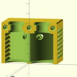 dual_e3d_remix.png Télécharger fichier SCAD gratuit Tronxy X3 - E3d V6 Double montage en bout chaud avec refroidissement en bout froid canalisé • Design imprimable en 3D, gdachs