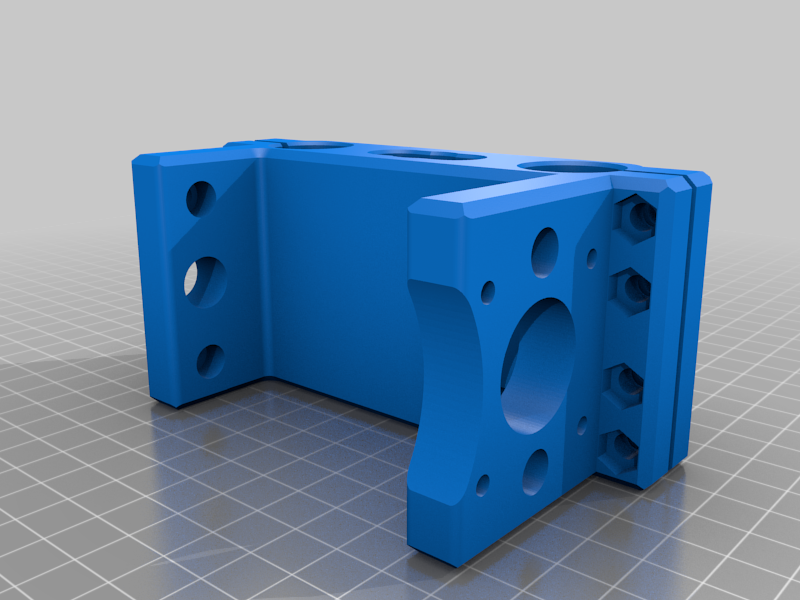 Rear_mount_72mm_LM10uu_spacing__v2.png Download free STL file CNC 3018 pro Spindle parts • Template to 3D print, Sagittario