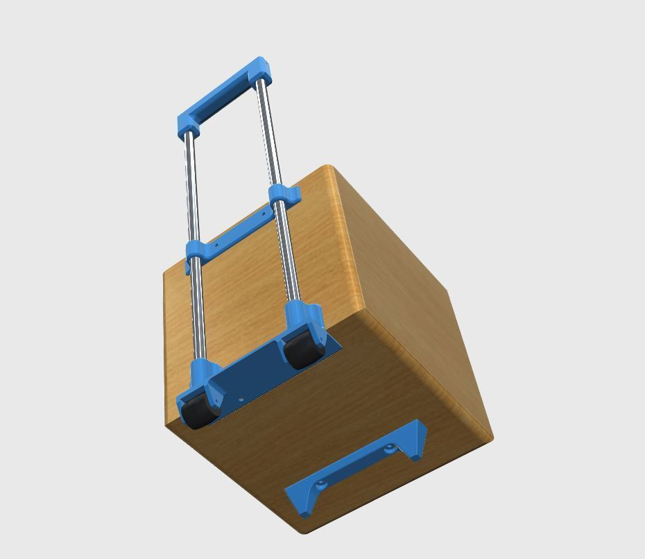 TOTE_BOX_2.JPG Download free STL file Wheelie tote box kit • Model to 3D print, Sagittario