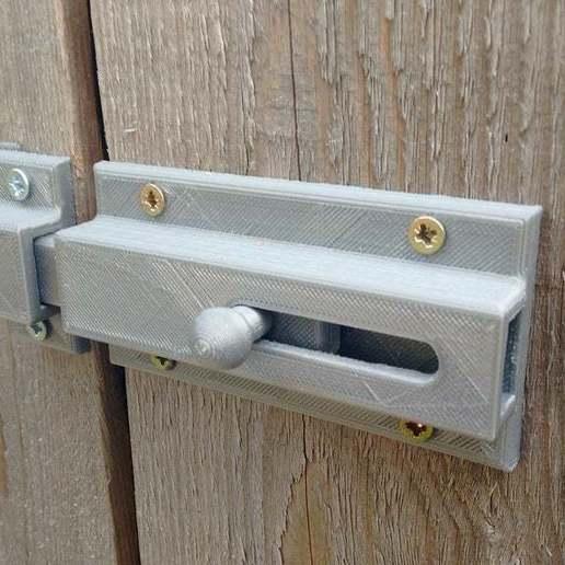 Download free STL file Sliding Door bolt Print fully assembled • 3D printer object, Sagittario