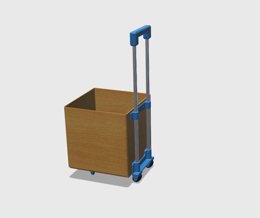 TOTE_BOX_1.JPG Download free STL file Wheelie tote box kit • Model to 3D print, Sagittario