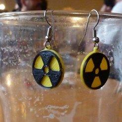 Télécharger fichier imprimante 3D gratuit Boucles d'oreilles'radioactives'., alberto_da_meduna