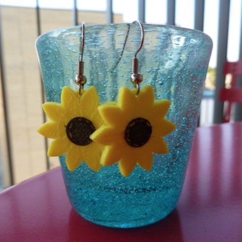 Capture d'écran 2018-07-23 à 18.04.44.png Download free STL file Sunflowers Earrings • Object to 3D print, alberto_da_meduna