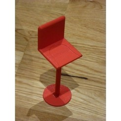 Free STL files Barbie Bar Stool, alberto_da_meduna