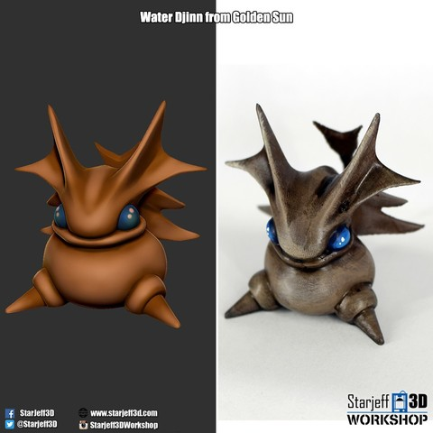 Free 3D printer model Earth Djinn from Golden Sun, Starjeff3D