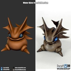 Download free 3D printing templates Earth Djinn from Golden Sun, Starjeff3D