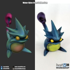 Download free 3D printer templates Water Djinn from Golden Sun, Starjeff3D