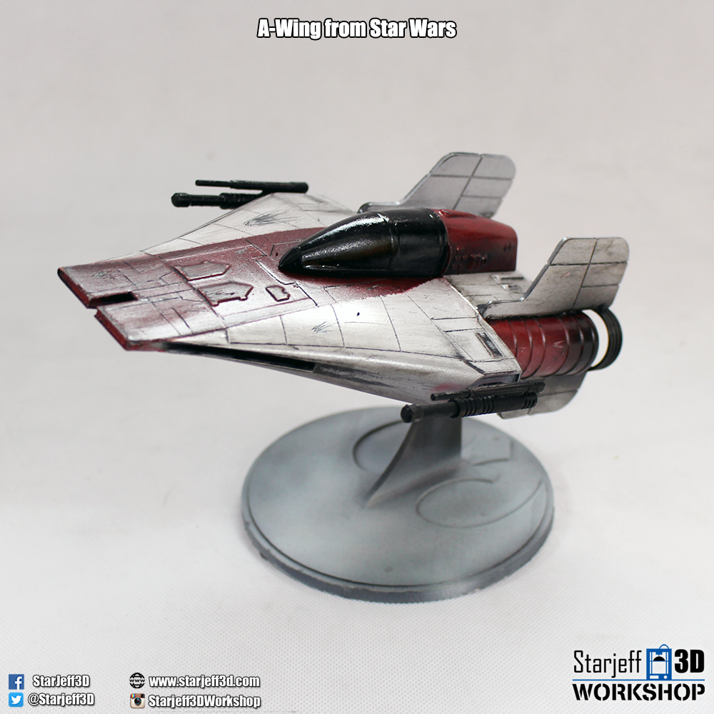 A-wing_1.jpg Download free STL file A-wing from Star Wars • 3D printing model, Starjeff3D