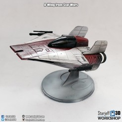 Download free STL file A-wing from Star Wars • 3D printing model, Starjeff3D