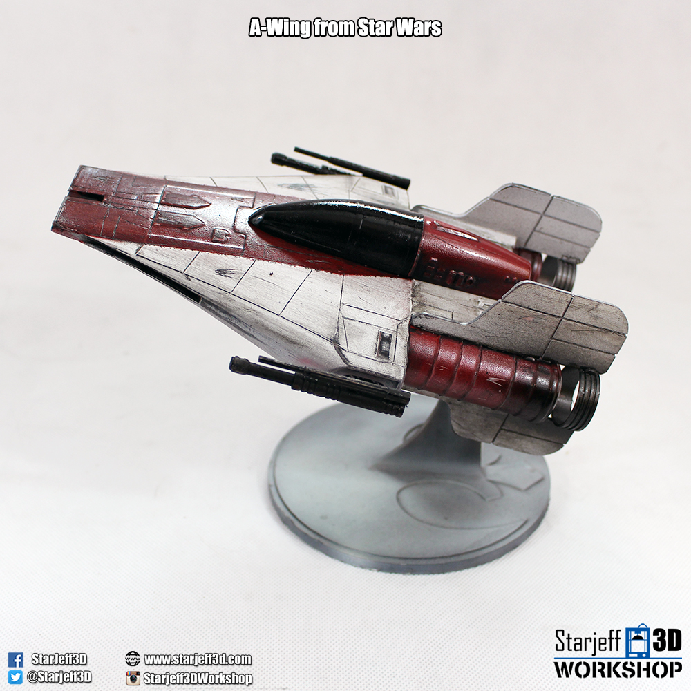 A-wing_2.jpg Download free STL file A-wing from Star Wars • 3D printing model, Starjeff3D