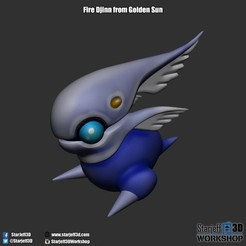 Download free STL file Wind Djinn from Golden Sun • 3D printer object, Starjeff3D