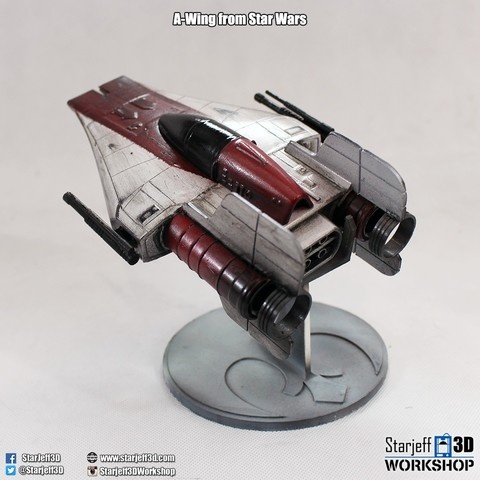 A-wing_3.jpg Download free STL file A-wing from Star Wars • 3D printing model, Starjeff3D