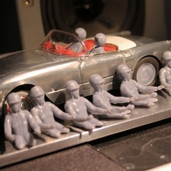 drivers into corvette53.jpg Download STL file Driver - Pilote for Slot Car • Design to 3D print, SlotED