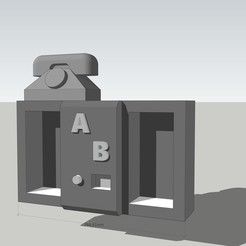 Equipment Interior for divide 76 scale00.jpg Download free STL file Red Phone BOX - equipment interior for small scale • 3D printing design, SlotED