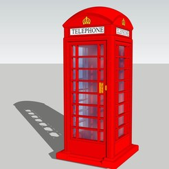 Assembled.jpg Télécharger fichier STL CabineTelephone Londonienne - Red Box Phone UK - Modelisme • Design imprimable en 3D, etiennedenison