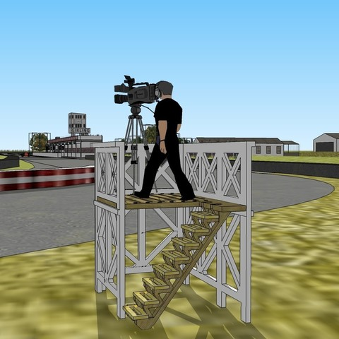 tour camera in goodwood.jpg Download OBJ file GOODWWOD tour camera for SCALEXTRIC • 3D printing model, SlotED