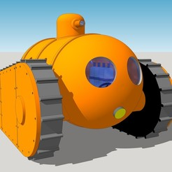 Assembled face ver4c.jpg Download STL file Amphibious Tank - Submarine Tank • Model to 3D print, SlotED