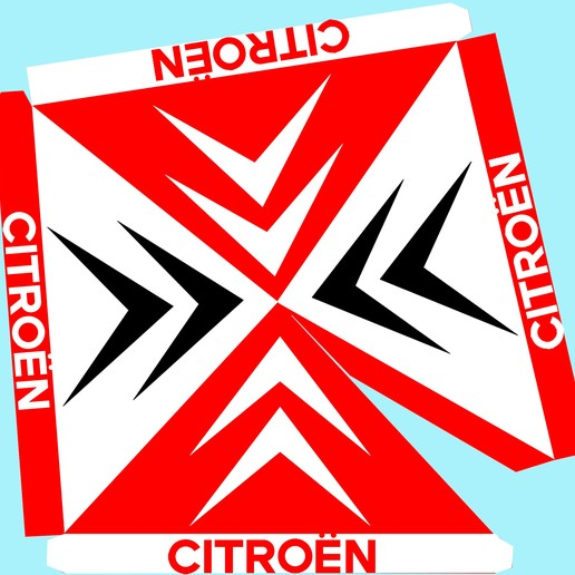 Canopy Rally roof CITROEN.jpg Télécharger fichier STL Pit Stop RALLYE Tente - Canopy Rally  for DIORAMA  race car • Objet pour impression 3D, SlotED