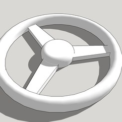 Download free 3D printing templates Model steering wheel (3-spoke) SLOT CAR, etiennedenison