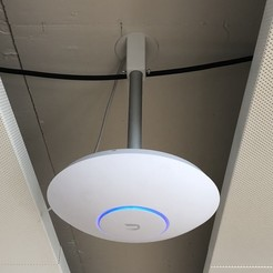 IMG_3183 2.jpg Download free STL file Ubiquiti UniFi AP Ceiling Mount • 3D printing model, DominikPalo