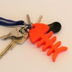 P1100579.jpg Télécharger fichier STL gratuit Porte clés arêtes de poissons • Plan à imprimer en 3D, jeremyschuck03