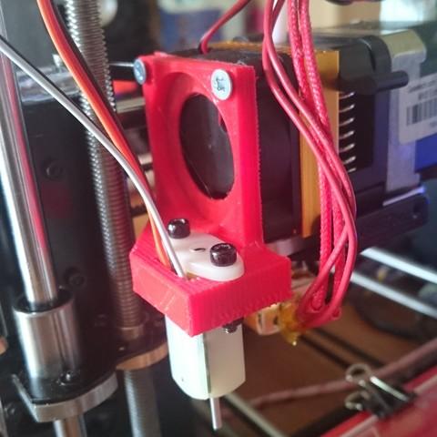 capteur monté (2).JPG Télécharger fichier STL support capteur 3dTouch prusa i3 pro  • Modèle à imprimer en 3D, Overonez