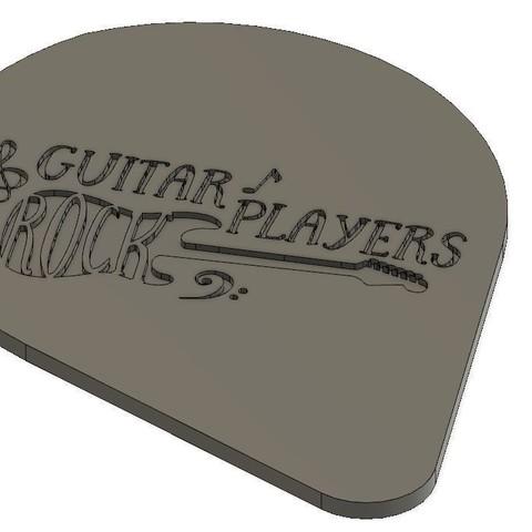 Free STL files Guitar Picks 0.58mm ABS Smooth, mickael59b