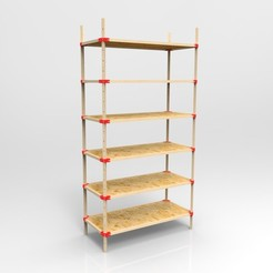 Descargar diseños 3D Sistema de estanterías, alexandre_vincent