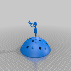 Download free 3D printer designs pencil holder- 'Little Prince', mariospeed