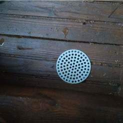 Free STL files hole cover, ventilator (⌀72), mariospeed