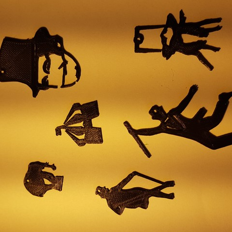 3D printer files great showman, circus key rings,tags, mariospeed