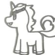 Descargar archivos STL 4 x cortador de galletas unicornio (1), mariospeed
