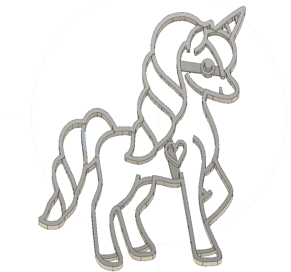 1.png Download STL file  8 X UNICORN COOKIE CUTTER • Object to 3D print, mariospeed