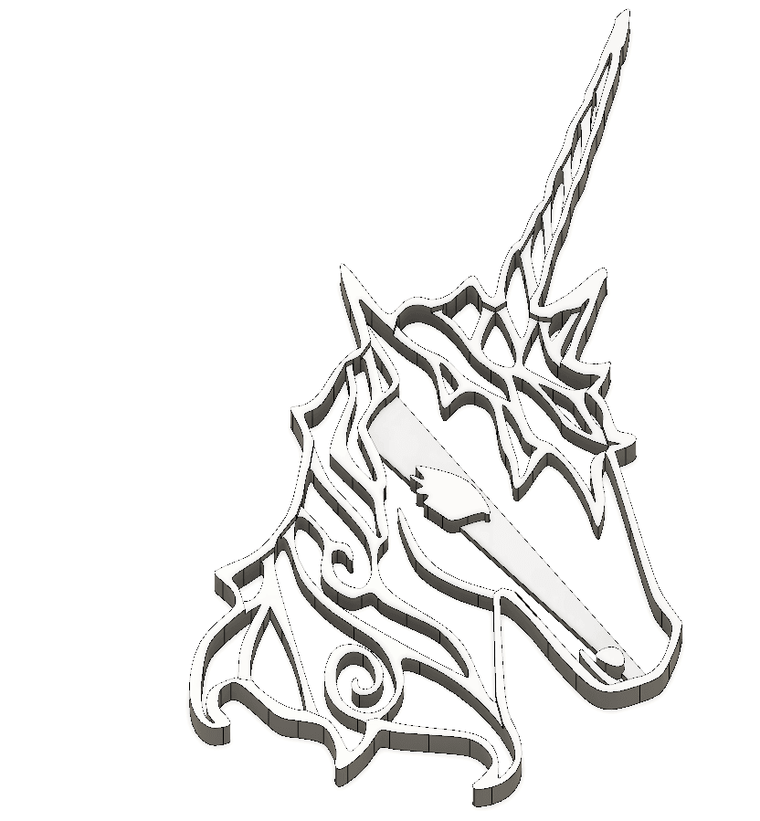 4.png Download STL file  8 X UNICORN COOKIE CUTTER • Object to 3D print, mariospeed