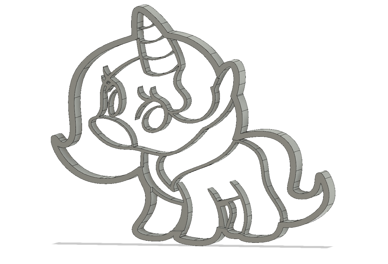 screenshot_20190213_182614.png Download STL file  8 X UNICORN COOKIE CUTTER • Object to 3D print, mariospeed