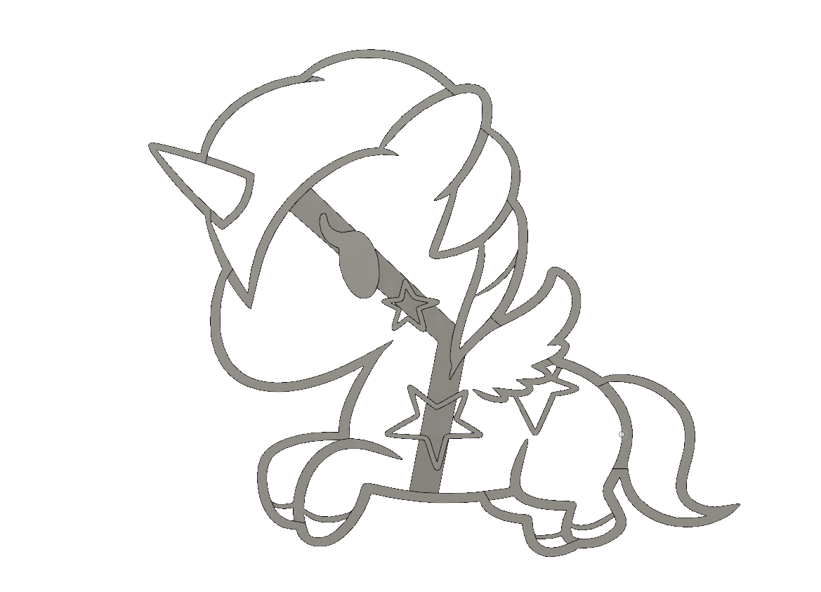 2.png Download STL file  8 X UNICORN COOKIE CUTTER • Object to 3D print, mariospeed
