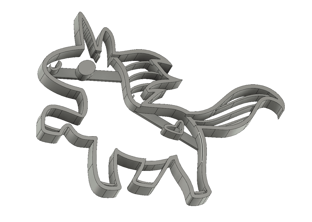 screenshot_20190213_182549.png Download STL file  8 X UNICORN COOKIE CUTTER • Object to 3D print, mariospeed
