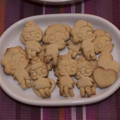 Modelos 3D para imprimir 2 x CORTADORA LOL de galletas, mariospeed